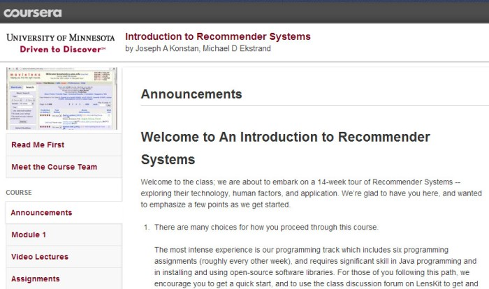 Introduction to Recommender Systems