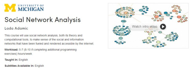 Social Network Analysis (Coursera)